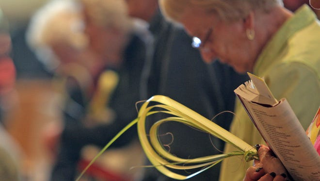 Palm Sunday vigil Mass at St. Gregory the Great Church in Harrison on April 12, 2014.