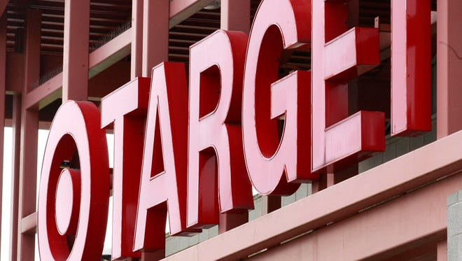 A Target sign on the front of a Target Store, in Wilsonville, Ore.