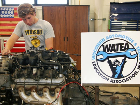 Wausau East High School's new auto shop offers many learning opportunities.