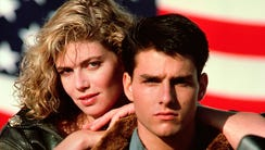 Tom Cruise and Kelly McGillis from 'Top Gun.'