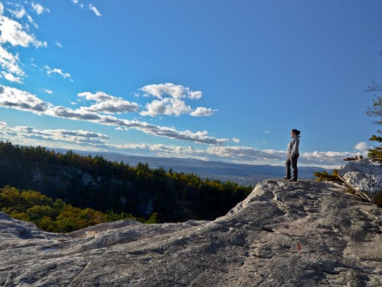 A hike along the trail at Mohonk Mountain House is