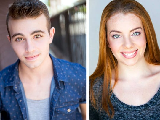 Dean Cestari and Charly Dannis star as Brad and Janet