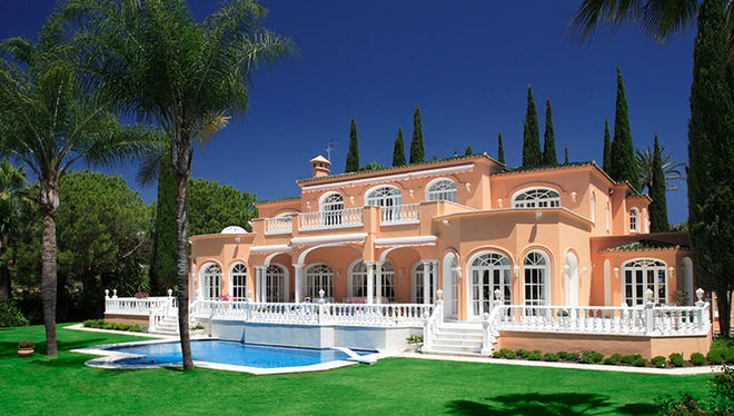 Prince's former home sits near Marbella, Spain.