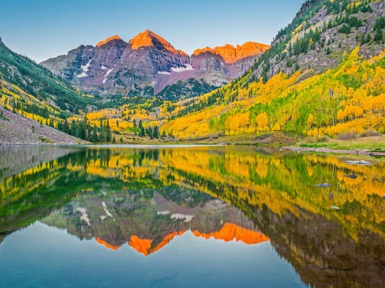 The Maroon Bells are gorgeous but temporarily inaccessible.