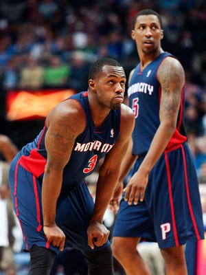 Pistons sixth man Rodney Stuckey, left, has played well off the bench behind rookie guard Kentavious Caldwell-Pope.