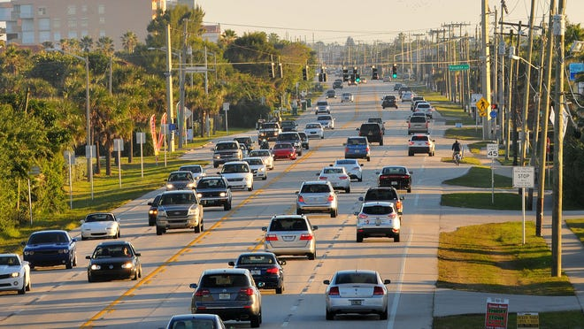 Bicyclists utilize the shoulders and sidewalks on State Road A1A in Indialantic near Howard Futch Memorial Park, not knowing it is one of the most dangerous stretches of road in Brevard County.