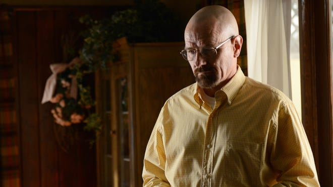 """This image provided by AMC shows Bryan Cranston as Walter White in a scene from """"Breaking Bad."""""""