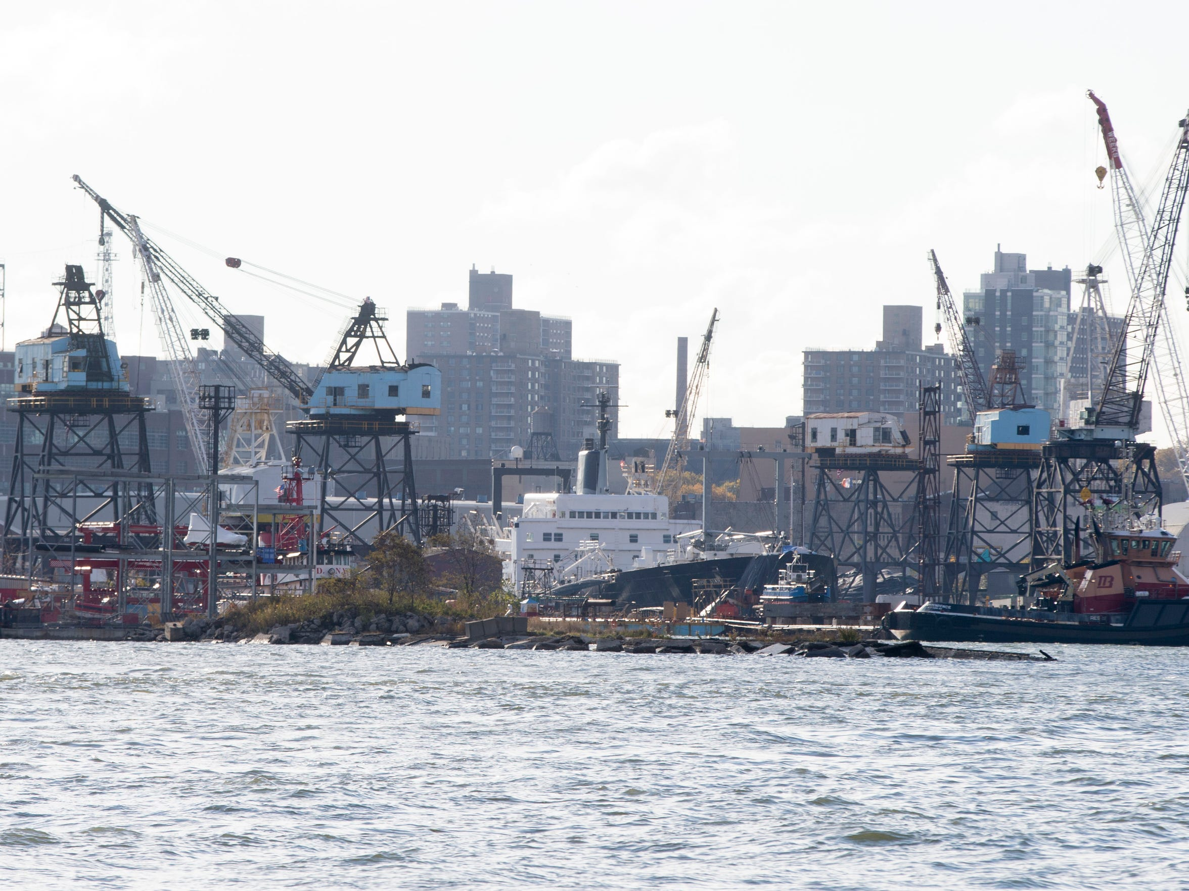 The site of the Brooklyn Navy Yard, in 2014.