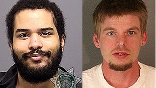 Suspects Tarence Thomas, left, and Jacob Ryan McBain have been charged with conspiracy to commit murder for allegedly plotting a mass shooting at Norco College