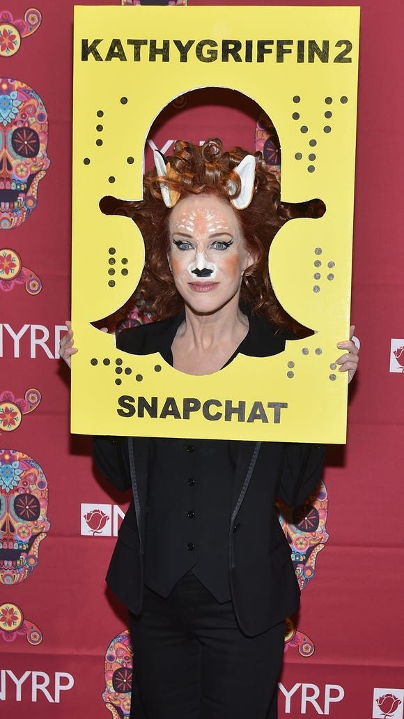 Kathy Griffin rocked the deer Snapchat filter.