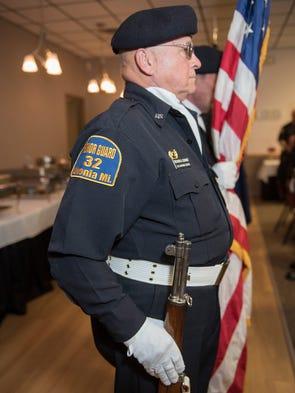 American Legion Post 32 Honor Guard member Richard