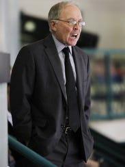 Florida Everblades president Craig Brush reacts to
