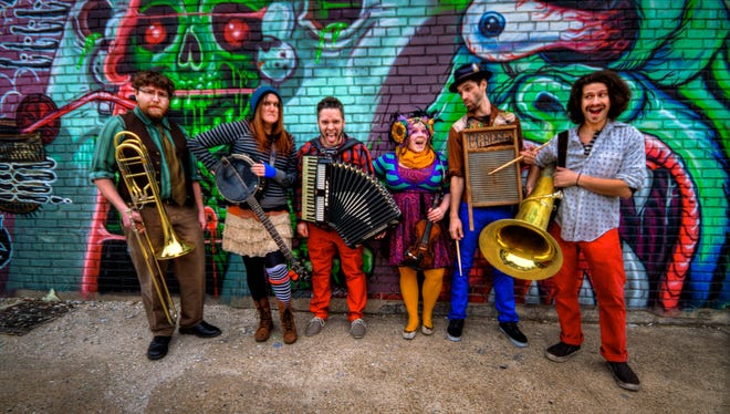 The circus-inspired cabaret-punk band This Way to the EGRESS will perform at a Halfway to Halloween Party on April 22 at Roxy & Dukes in Dunellen.