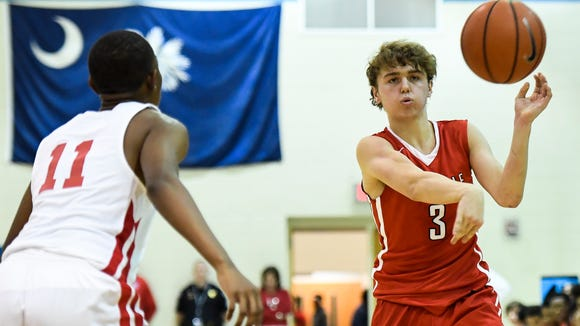 Greenville's Wells Hoag (3), chosen one of the top five senior boys basketball players in Class AAAA, continues to develop his all-around game.