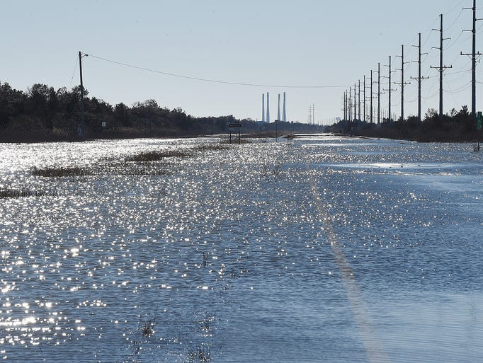 Coastal Highway to Indian River Inlet remains flooded