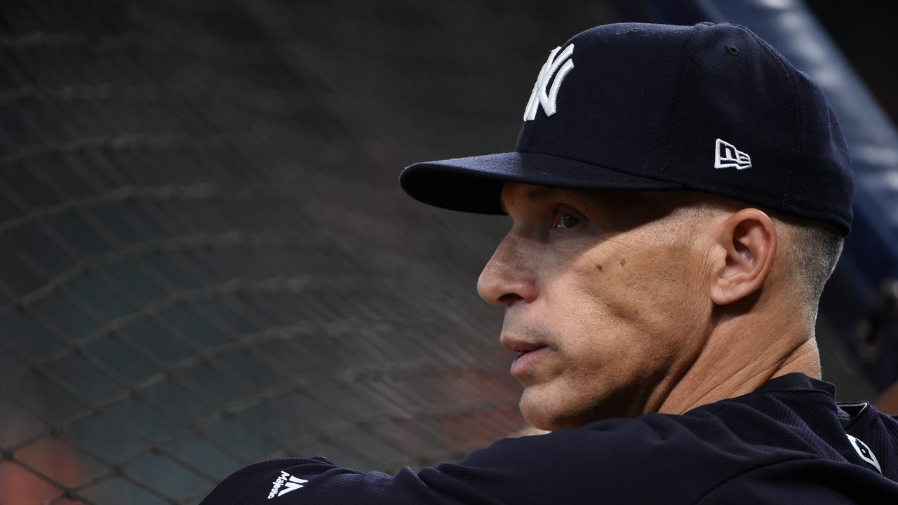 Yankees manager Joe Girardi provides updates on which of his pitchers will be available Saturday night for Game 7 of the ALCS against the Astros in Houston, Oct. 21, 2017.