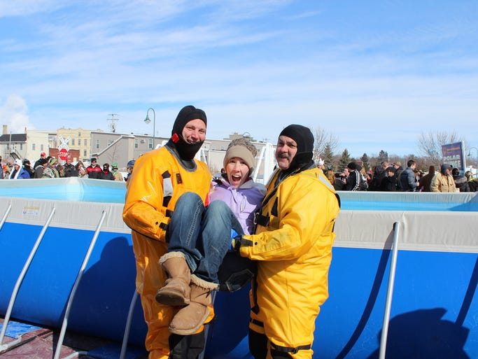 A Polar Plunge was held in Whitewater on Saturday, February 15, 2014.