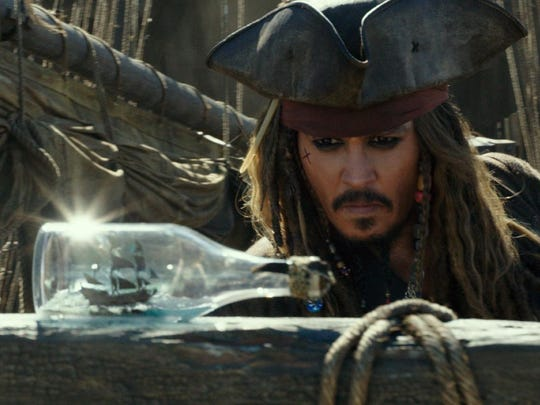 "Johnny Depp in ""Pirates of the Caribbean: Dead Men Tell No Tales."""