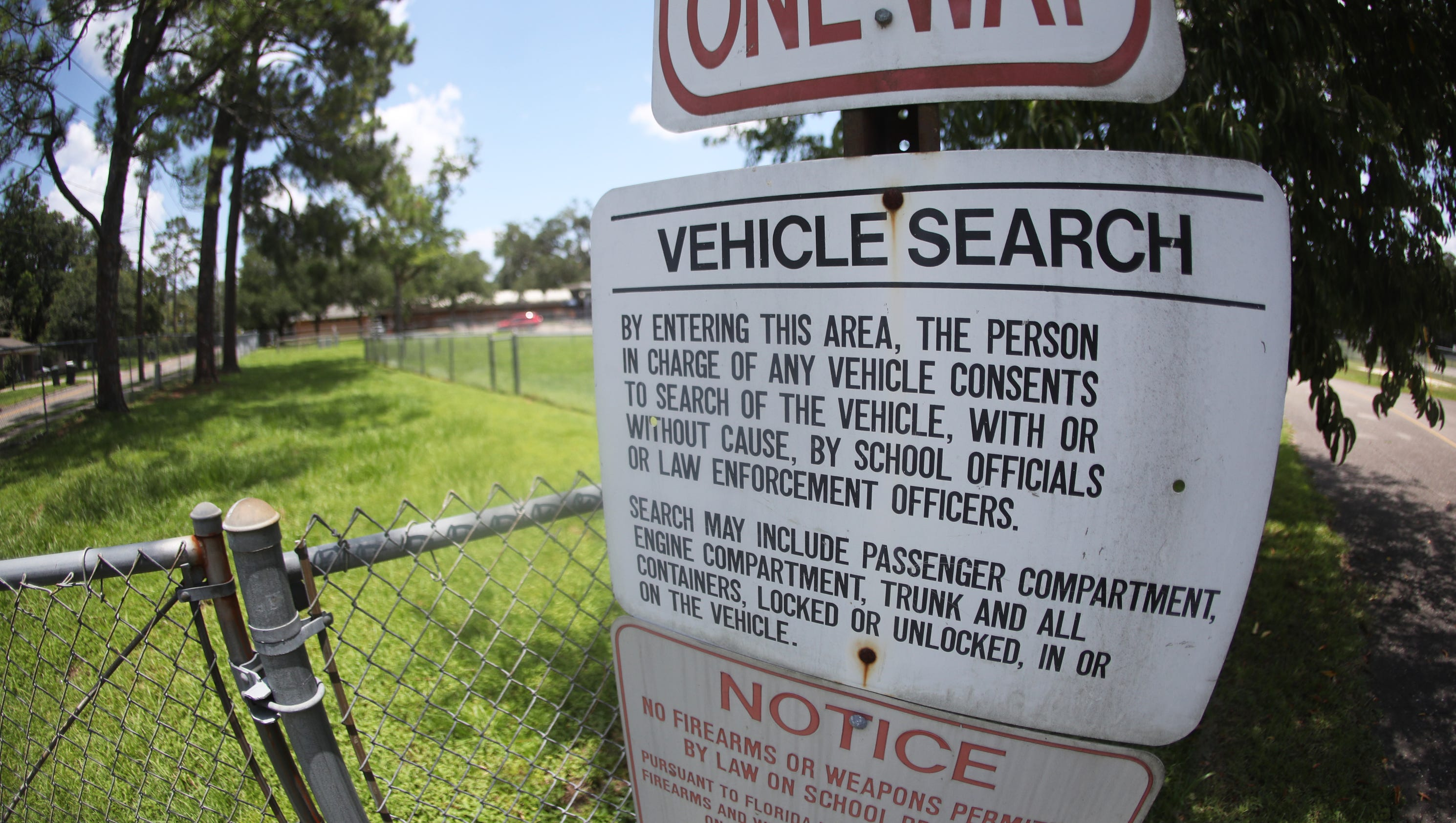 """""""Consent To Search"""" Signs Coming Down At Leon County Schools"""