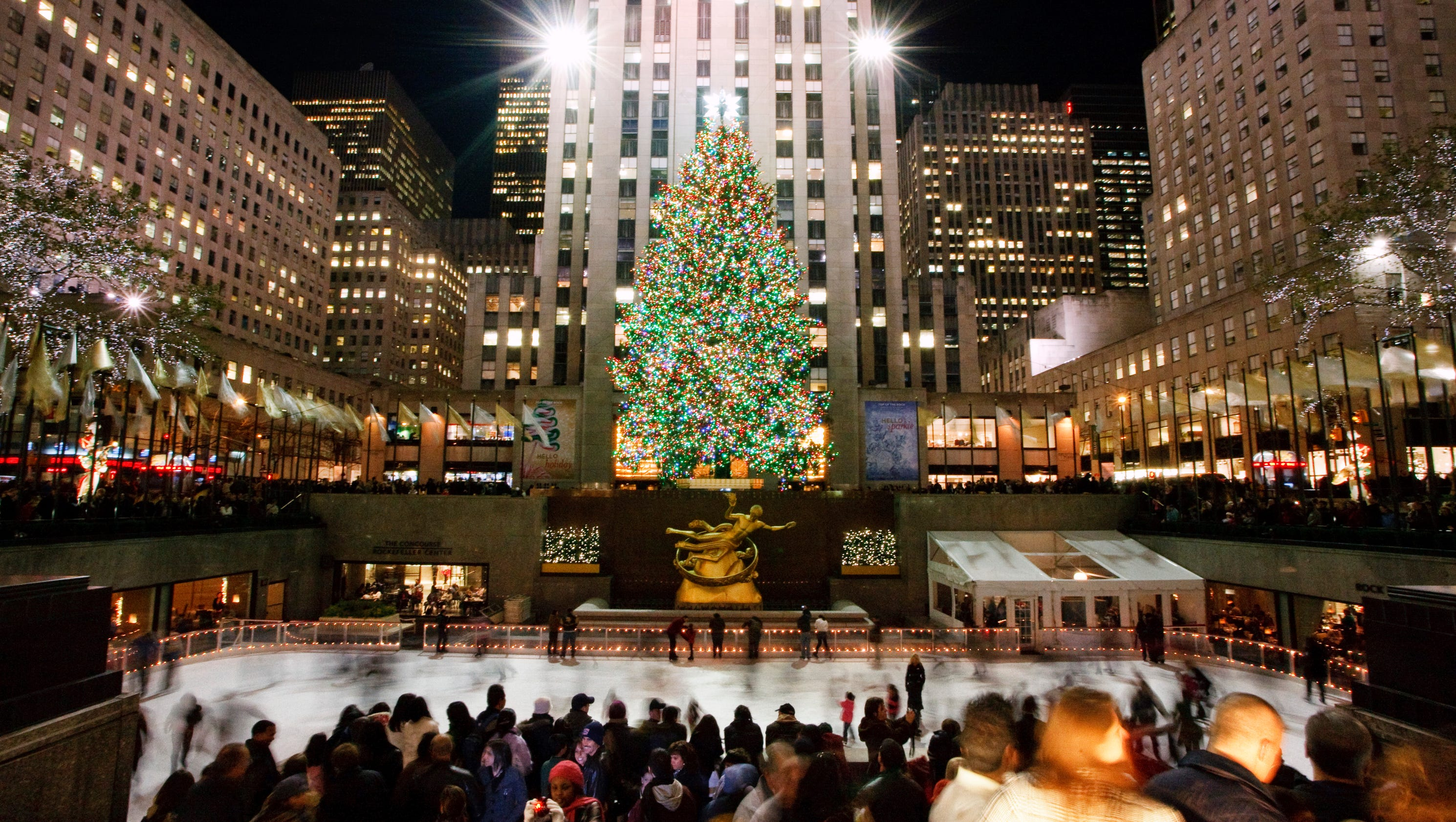10best places to see holiday lights in nyc for Best places to visit for christmas in usa