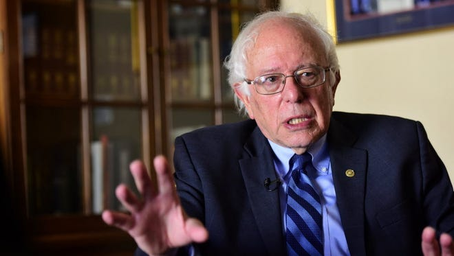 Sen. Bernie Sanders talks to USA TODAY on July 14, 2016, about his plans to create successor organizations to carry on his political revolution.