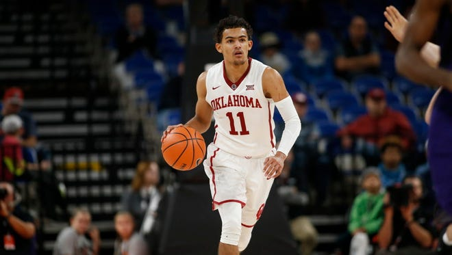 Oklahoma's Trae Young broke the Big 12's assist record on Tuesday night.