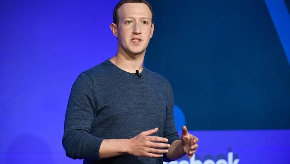 File photo shows Facebook CEO Mark Zuckerberg as he