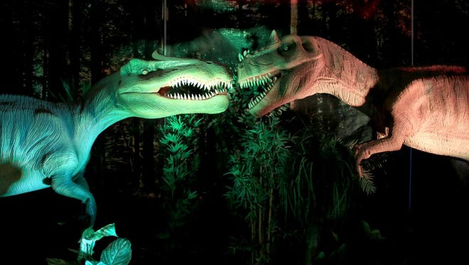 """Discover the Dinosaurs' is a hands-on exhibit including over 40 animatronic and museum quality dinosaurs, held Saturday and Sunday at the U.S. Cellular Center."