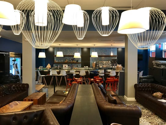 An early look at the dining and lounge area of Gather,