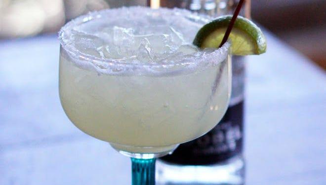 The lime margarita at Los Sombreros.