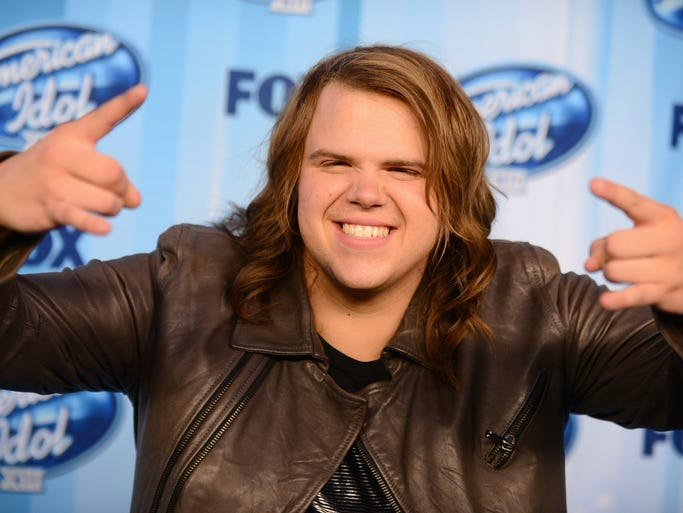 Winner Caleb Johnson poses in the press room at the American Idol XIII finale at the Nokia Theatre at L.A. Live on Wednesday, May 21, 2014, in Los Angeles. (Photo by Jordan Strauss/Invision/AP)