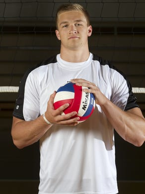 Asbury Park Press All-Shore boys high school volleyball team. Player of the Year Mike Gesicki of Southern Regional.
