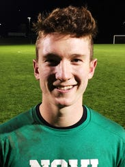 Novi goalie Luke McDonald made 11 saves in the district