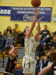Northern Lebanon's Zoe Zerman shoots during the Vikings'