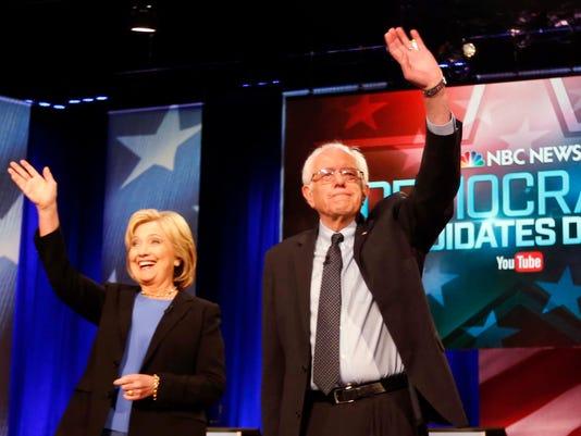 Bernie Sanders, Hillary Clinton