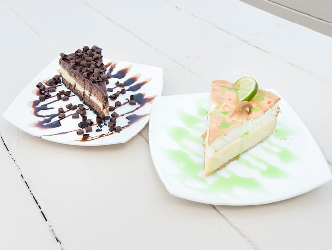 Triple chocolate cheesecake and keylime pie at Fish