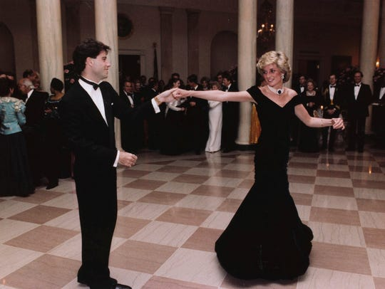 John Travolta dances with Princess Diana at a White