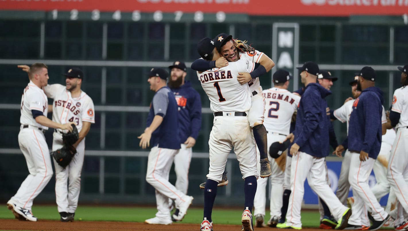 Image result for Astros win ALCS