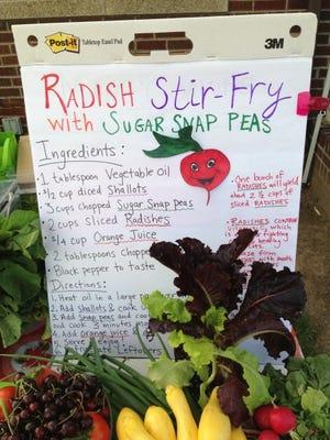 Radish Stir-Fry with Sugar Snap Peas.