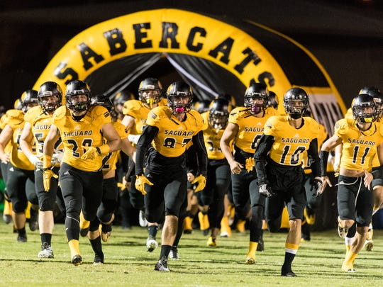 Saguaro takes the field before the Division 4A quarterfinal