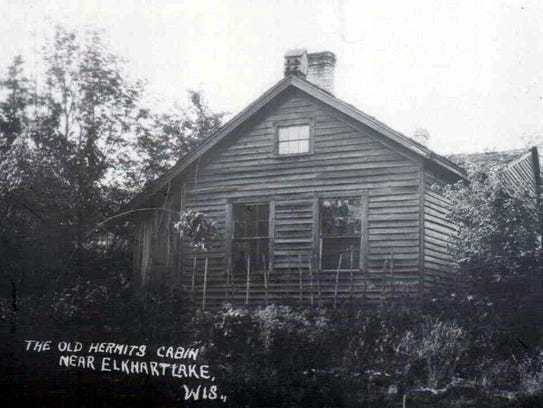 A post card showing the cabin of John Sexton, once