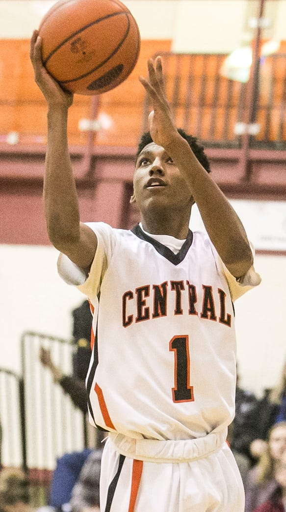 Central York's Courtney Batts is seen here earlier