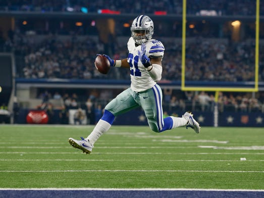 Dallas Cowboys running back Ezekiel Elliott had one