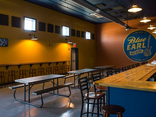 The Blue Earl Brewing Company's tap house sits empty in preparation for the company's opening on Saturday.