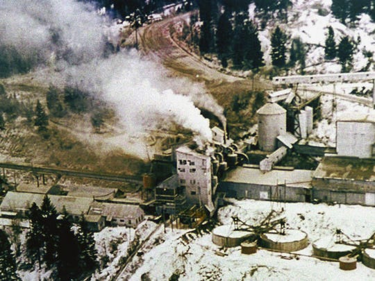 An undated aerial photo of Libby's now-shuttered W.R. Grace and Co. vermiculite mine.