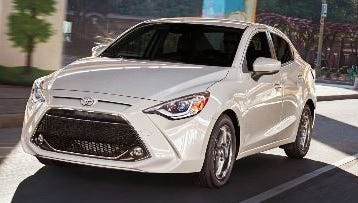Now there's a Yaris sedan, in addition to the traditional hatchback