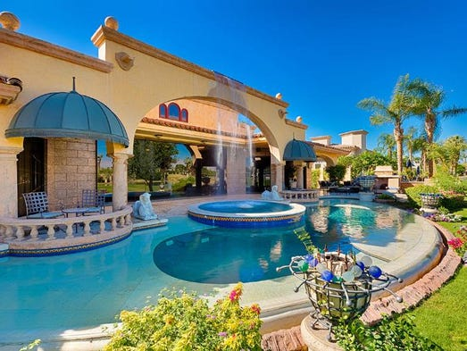 Palm Desert, Calif.: This house featuring a pool with