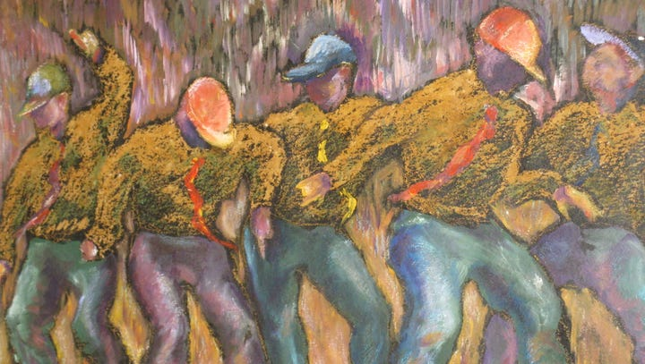 Artist's inventive spirit flows in 'Dance with Me' watercolors