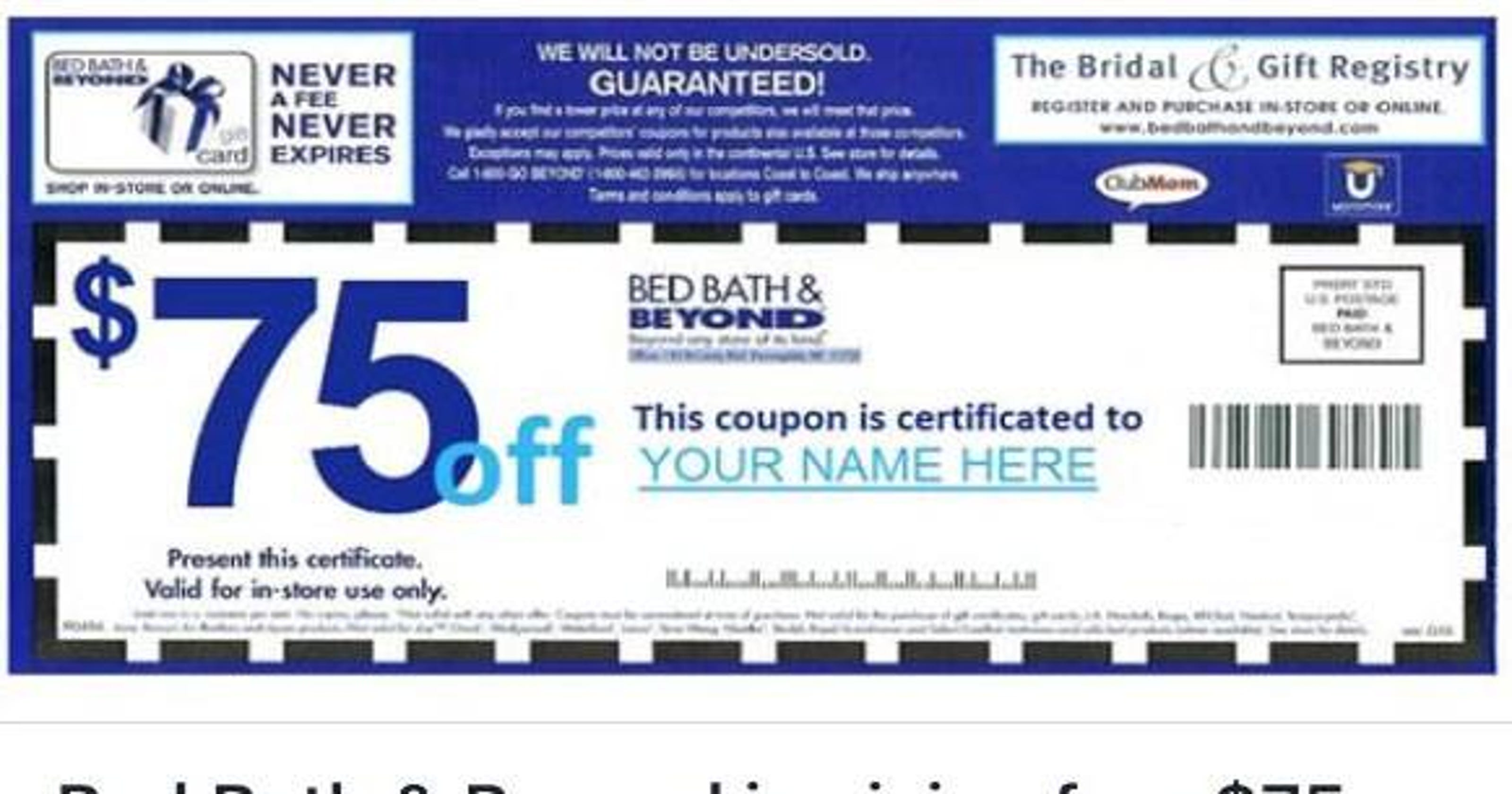 Forget About That 75 Bed Bath Beyond Coupon
