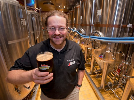 Colin Presby brews three kinds of beer at the on-ship brewery.